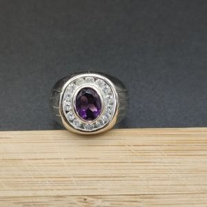 Jewelry - Amethyst and CZ Silver Ring 💎